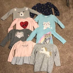 2T long sleeve Carter's tops